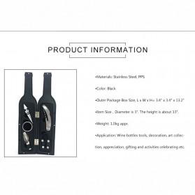 Sweettreats Perlengkapan Set Pembuka Tutup Botol Wine Bar Tools Corkscrew - Black - 9
