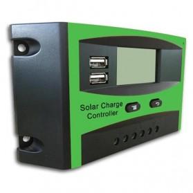 Solar Charger Controller Regulator Dual USB 12/24V for Solar Panel - DJ242001-2 - Green - 2