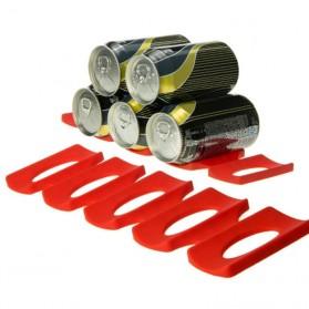 DouRyoku Rak Holder Kaleng Minuman Foldable Beer Can Storage Rack - LYW048 - Red - 3