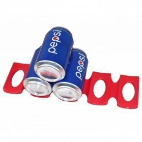 DouRyoku Rak Holder Kaleng Minuman Foldable Beer Can Storage Rack - LYW048 - Red - 4