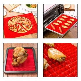 Aihogard Alas Masak Pyramid Silicone Non-stick Oven Baking Tray Mat - JJ1370-01 - Red - 2