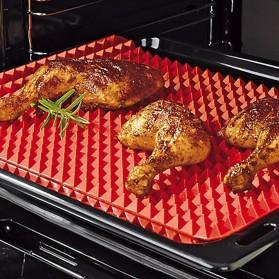 Aihogard Alas Masak Pyramid Silicone Non-stick Oven Baking Tray Mat - JJ1370-01 - Red - 3