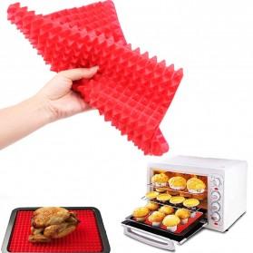 Aihogard Alas Masak Pyramid Silicone Non-stick Oven Baking Tray Mat - JJ1370-01 - Red - 4