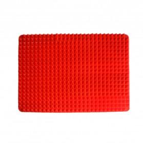 Aihogard Alas Masak Pyramid Silicone Non-stick Oven Baking Tray Mat - JJ1370-01 - Red - 5