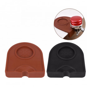 One Two Cups Silicone Holder Mat Tamper Kopi Espresso Barista - 0310 - Brown