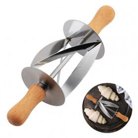 Upspirit Roller Pemotong Kue Croissant Bread Cutter - S01H - Silver
