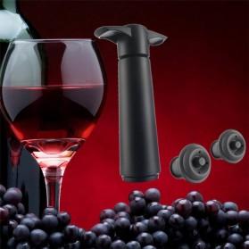 Our Cherish Pompa Penutup Botol Wine Silicone Vacuum Stopper - Black