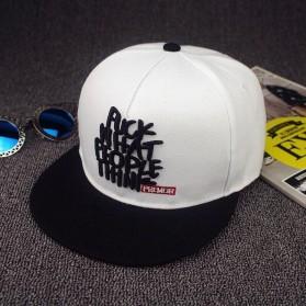 Topi Snapback Fuck What People Think Hip Hop Baseball Cap - veeky-97 - White