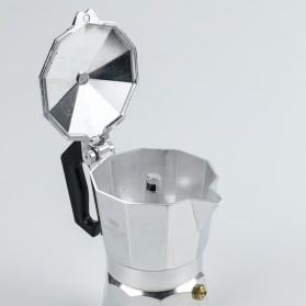 One Two Cups Espresso Coffee Maker Moka Pot Teko Stovetop Filter 100ml 2 Cups - JF112 - Silver - 4