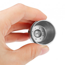 ICafilas Refillable Capsule Stainless Steel + Tamper for Nespresso Coffee Machine - F456 - Silver - 3
