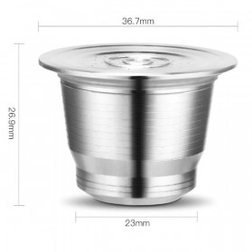 ICafilas Refillable Capsule Stainless Steel + Tamper for Nespresso Coffee Machine - F456 - Silver - 7