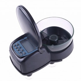 Resun Dispenser Makanan Ikan Otomatis Aquarium Automatic Fish Food Feeding Timer - FF-01 - Black
