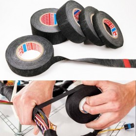 Tase AG Lakban Kabel Listrik Adhesive Cloth Wiring Tape 19mm - BI2980 - Black
