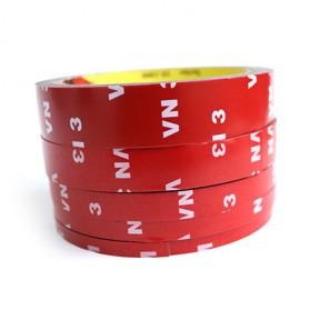 JETTING Lakban Selotip Double Tape 3M 3m x 10mm 1Pcs - SC-3M - Red - 4