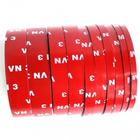 JETTING Lakban Selotip Double Tape 3M 3m x 12mm 1Pcs - SC-3M - Red - 3