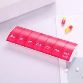MOONBIFFY Kotak Obat 7 Tage Day Medicine Tablet Storage - DC88 - Red