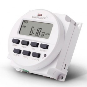 Sinotimer Programmable Timer Switch Relay Countdown Time 220V AC 7 Days - TM618N-2 - White - 3