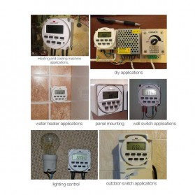 Sinotimer Programmable Timer Switch Relay Countdown Time 220V AC 7 Days - TM618N-2 - White - 5