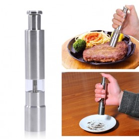 VKTECH Penggiling Biji Lada Merica Pepper Mill Manual Hand Grinder 135ml - MG600 - Silver