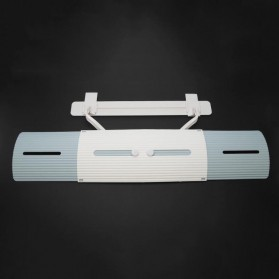 HOUSEEN Cover Angin AC Adjustable Air Conditioner Windshield Deflector - Z-DFB04 - Blue/White - 5