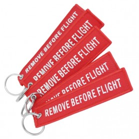 Doreen Gantungan Kunci Fashion Tag Remove Before Flight - AE120693 - Red