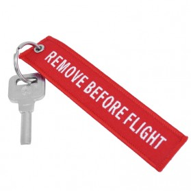 Doreen Gantungan Kunci Fashion Tag Remove Before Flight - AE120693 - Red - 2