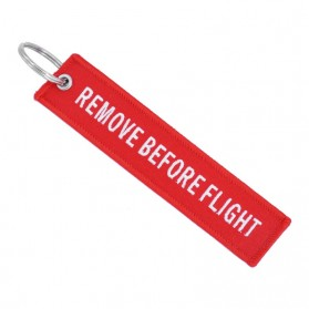 Doreen Gantungan Kunci Fashion Tag Remove Before Flight - AE120693 - Red - 3