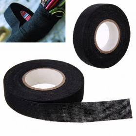 Mayitr AG Lakban Kabel Listrik Adhesive Cloth Wiring Tape 19mm - BI02980 - Black