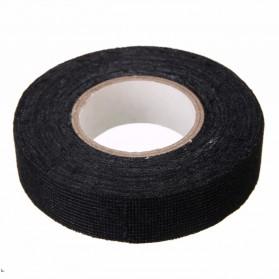Mayitr AG Lakban Kabel Listrik Adhesive Cloth Wiring Tape 19mm - BI02980 - Black - 3