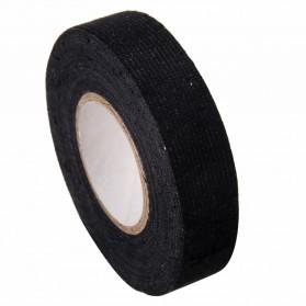 Mayitr AG Lakban Kabel Listrik Adhesive Cloth Wiring Tape 19mm - BI02980 - Black - 5