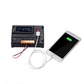 Meterk Solar Charger Controller Regulator 12V/24V 20A for Solar Panel - MPT20 - Black - 4