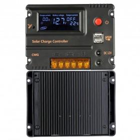 Meterk Solar Charger Controller Regulator 12V/24V 20A for Solar Panel - CMG2420 - Black - 5