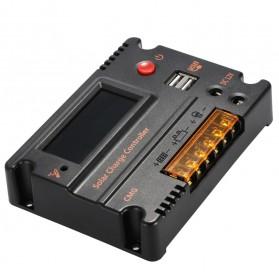 Meterk Solar Charger Controller Regulator 12V/24V 20A for Solar Panel - MPT20 - Black - 10