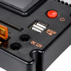 Meterk Solar Charger Controller Regulator 12V/24V 20A for Solar Panel - CMG2420 - Black - 8