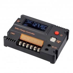 Meterk Solar Charger Controller Regulator 12V/24V 20A for Solar Panel - CMG2420 - Black - 9