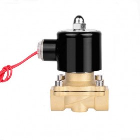 Electric Solenoid Water Valve Normally Closed  220V 1 Inch DN25 - 2W-250-25 - Black