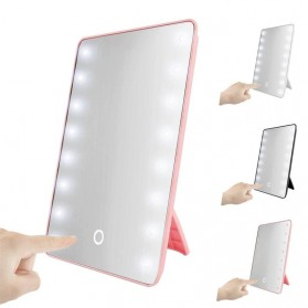 RUIMIO Home Solution Cermin Makeup Mirror 16 LED Light - A3107 - Pink