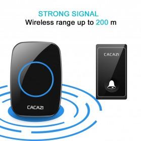 CACAZI FA10 Bel Pintu Wireless Remote Doorbell LED 36 Tunes 1 PCS Receiver - FA60 - Black - 2