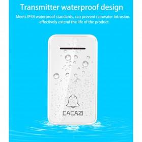 CACAZI FA10 Bel Pintu Wireless Remote Doorbell LED 36 Tunes 1 PCS Receiver - FA60 - Black - 8