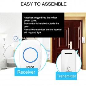 CACAZI FA10 Bel Pintu Wireless Remote Doorbell LED 36 Tunes 1 PCS Receiver - FA60 - Black - 9