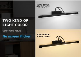 Luckyled Lampu LED Cermin Kamar Mandi Mirror Bathroom Light 12W Warm White - LCMLA-40-55 - Black - 4