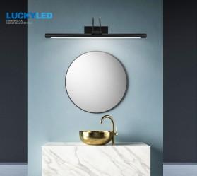 Luckyled Lampu LED Cermin Kamar Mandi Mirror Bathroom Light 12W Warm White - LCMLA-40-55 - Black - 6