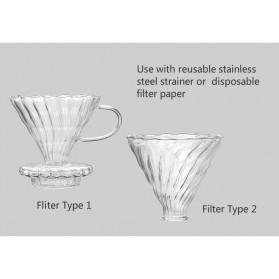 SELUNA Filter Penyaring Kopi V60 Glass Cone Coffee Dripper Filter Type 1 - SE101 - 2