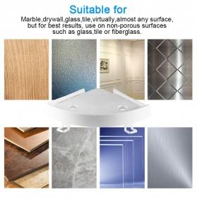 BATHE PROJECT Rak Gantungan Sudut Dinding Kamar Mandi Multifungsi Corner Shelf - OT001 - White - 2
