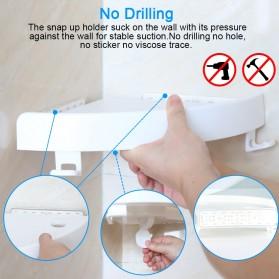 BATHE PROJECT Rak Gantungan Sudut Dinding Kamar Mandi Multifungsi Corner Shelf - OT001 - White - 4