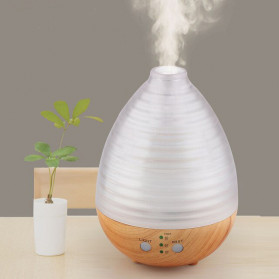 Alloet Air Humidifier Aromatherapy Oil Diffuser Egg Shape RGB Light 235ml - AJ-506 - Brown
