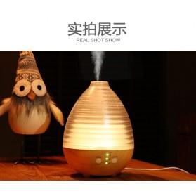 Alloet Aromatherapy Air Humidifier Oil Diffuser Egg Shape 235ml + RGB Light - AJ-506 - Brown - 2