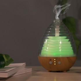 Alloet Aromatherapy Air Humidifier Oil Diffuser Egg Shape 235ml + RGB Light - AJ-506 - Brown - 4