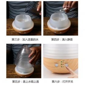 Alloet Air Humidifier Aromatherapy Oil Diffuser Egg Shape RGB Light 235ml - AJ-506 - Brown - 5