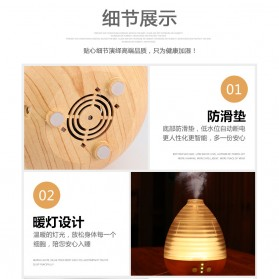 Alloet Air Humidifier Aromatherapy Oil Diffuser Egg Shape RGB Light 235ml - AJ-506 - Brown - 6